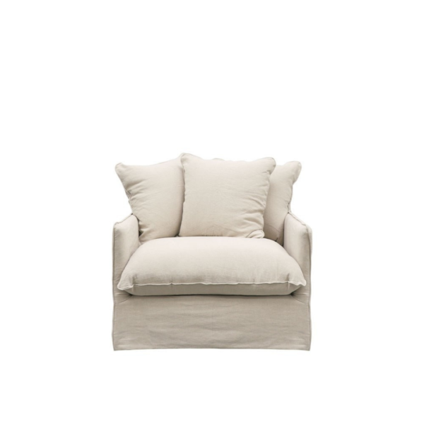 LOTUS SLIPCOVER ARMCHAIR - OATMEAL