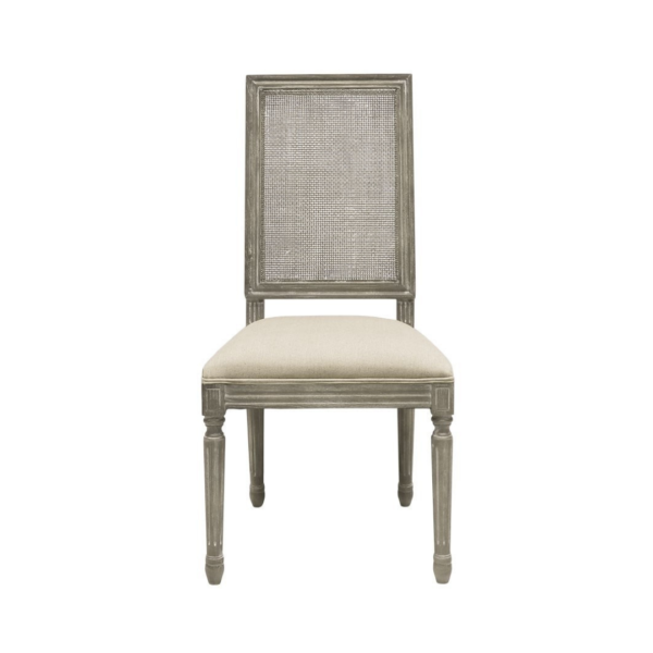 LOUIS DINING CHAIR - SQUARE RATTAN BACK