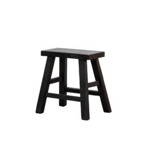 PARQ RECTANGLE STOOL - BLACK
