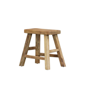 PARQ RECTANGLE STOOL - NATURAL