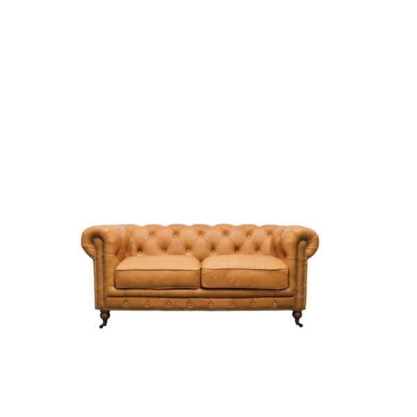 Stanhope 2 Seater Leather Chestnut