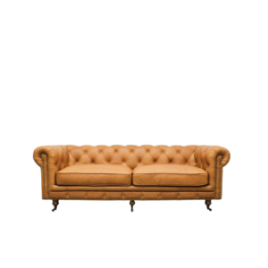 Stanhope 3 Seater Leather Chestnut