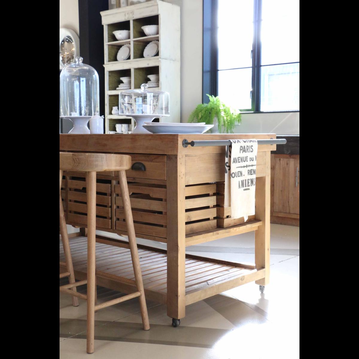 Pacific Oak Bar stool