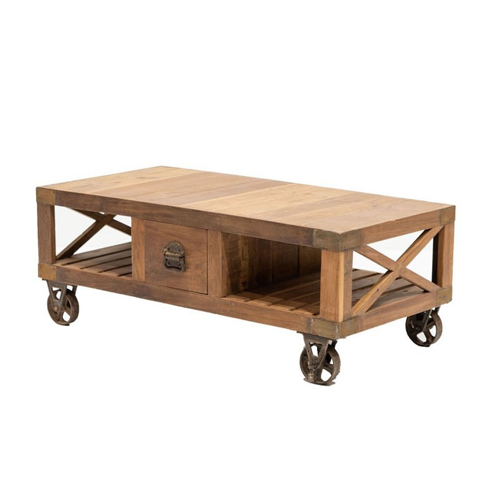 RAILWAY RECYCLED COFFEE TABLE : TV UNIT