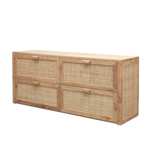 CRUSOE RETREAT 4 DRAWER CREDENZA
