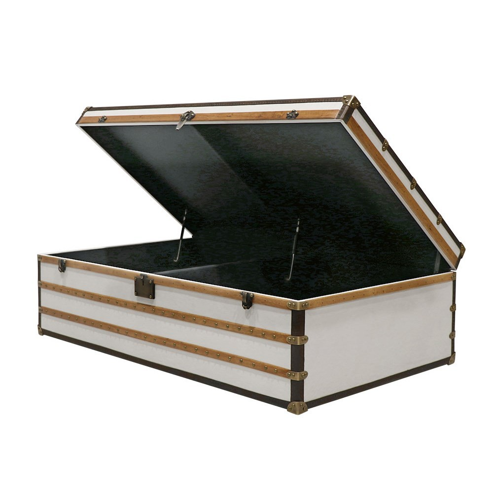 VOYAGER TRUNK COFFEE TABLE - AGED WHITE