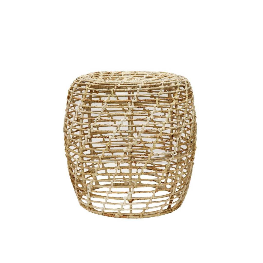 ABACA ROUND LATTICE SIDE TABLE - NATUR