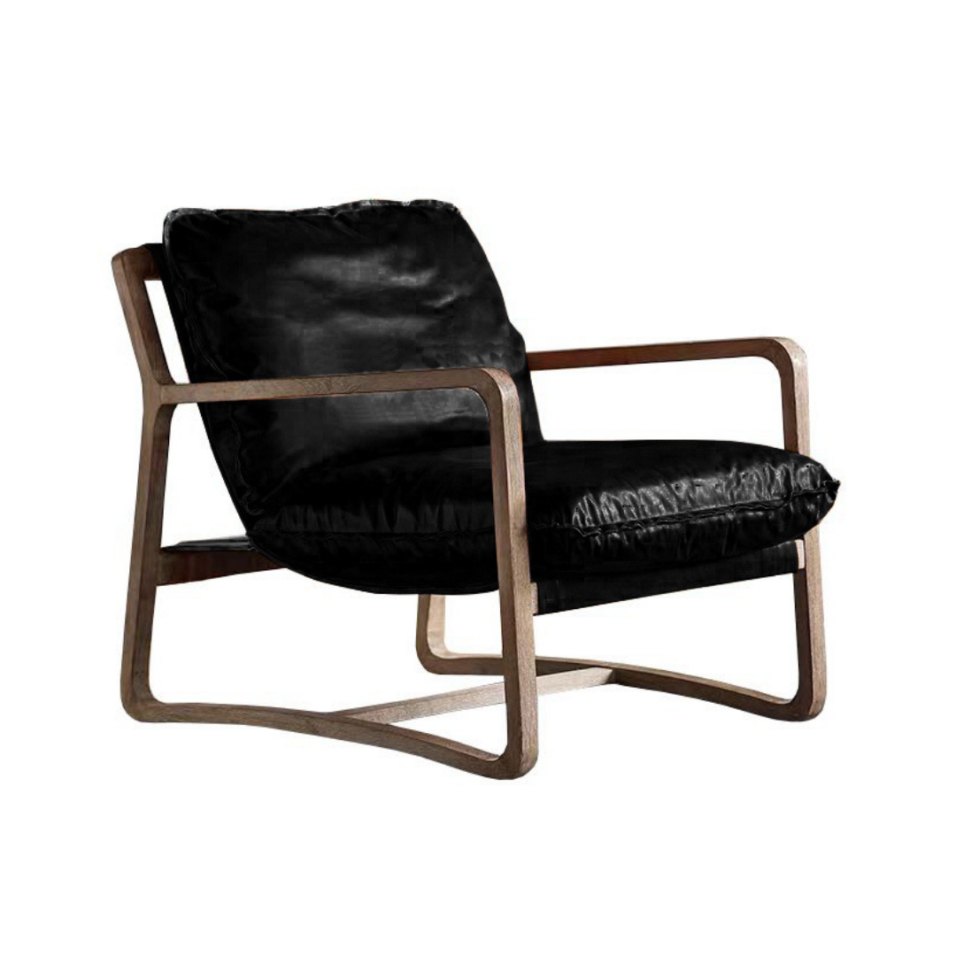 Acer Leather Lounge Chair