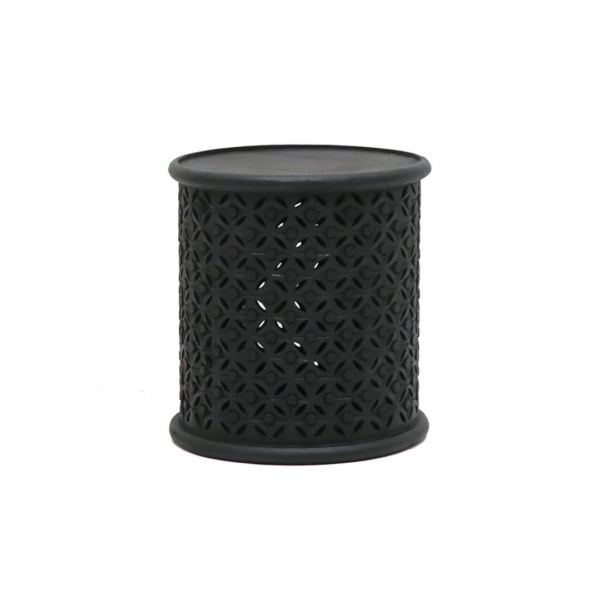 BAMILEKE SIDE TABLE - AGED BLACK