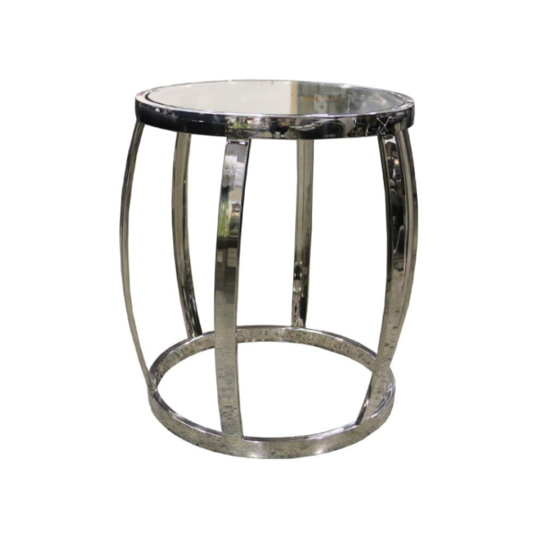 Drum-Side-Table-Polished-Clear