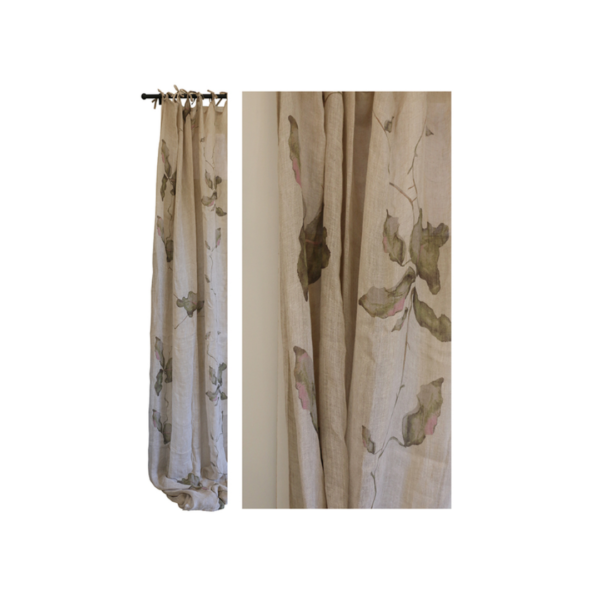 LEAF LINEN VOILE CURTAINS