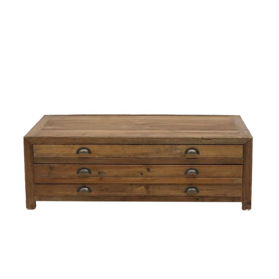 PRINTMAKER COFFEE TABLE - 2 DRAWER