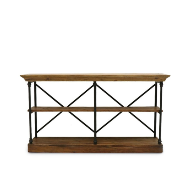 Provincial Iron & Pine Console Large