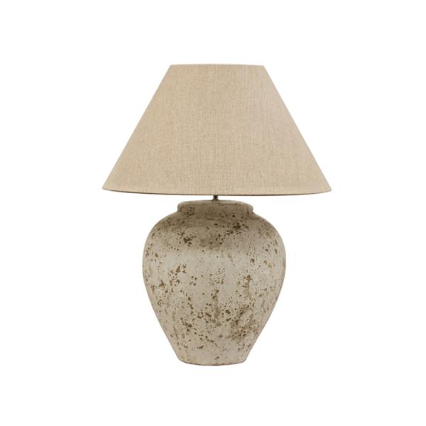 TUSCAN STYLE STONE LAMP LARGE