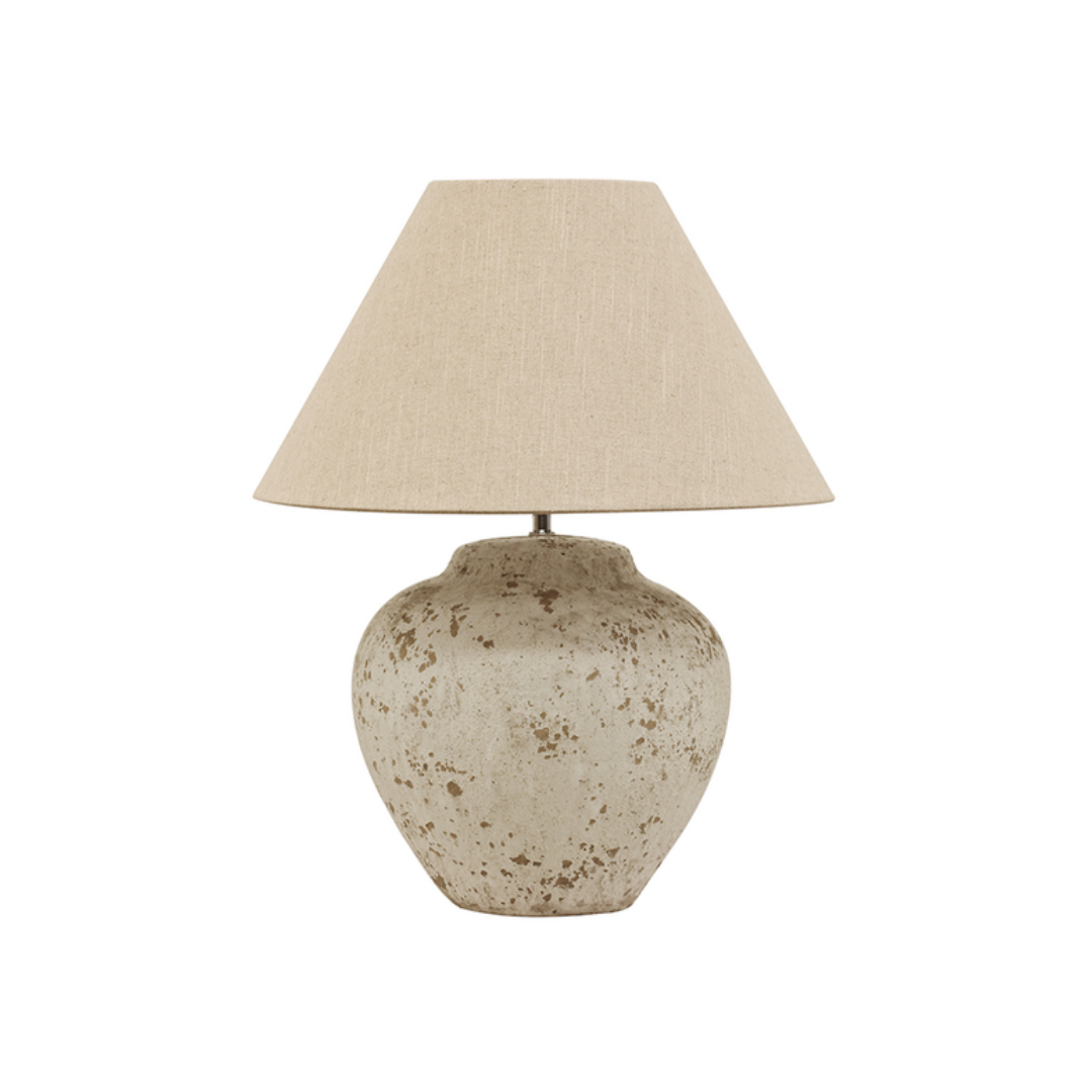 TUSCAN STYLE STONE LAMP