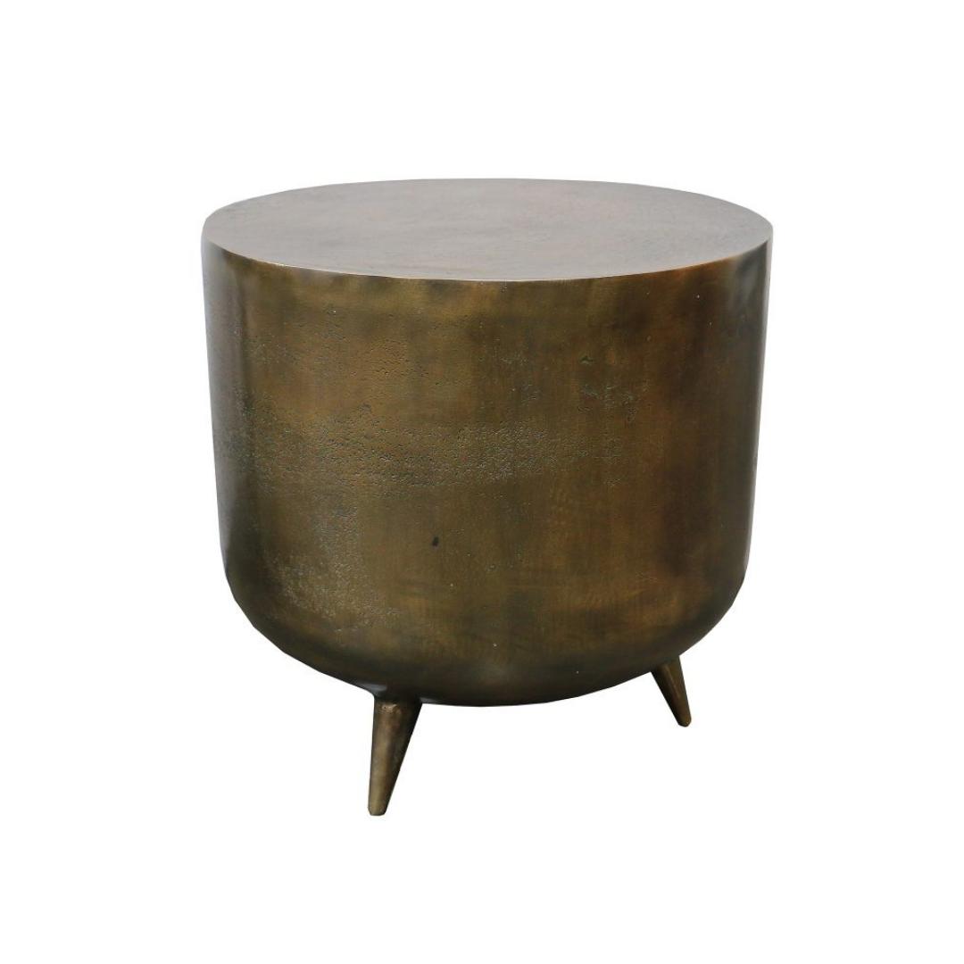 Tripod Drum Stool Brass AntiqueTripod-Drum-Stool-Brass-Antique