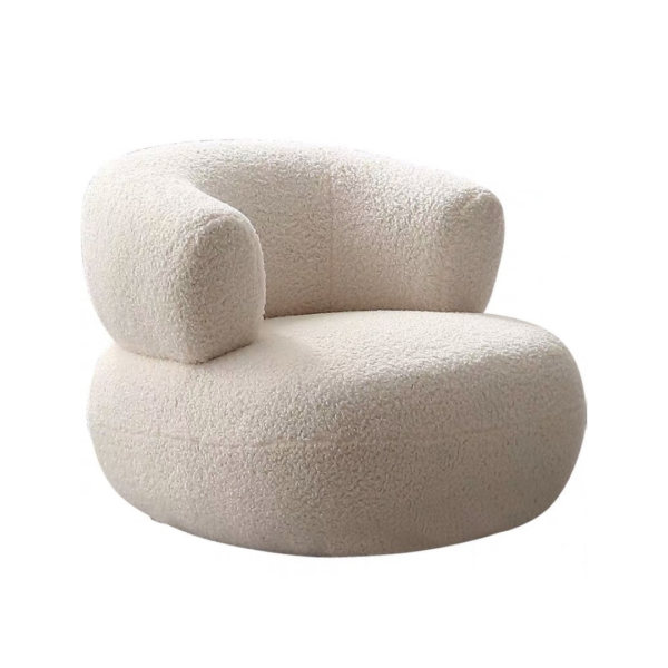 Boucle Fabric Chair
