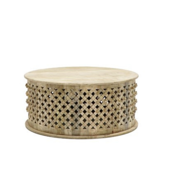 Bamileke Coffee Table Round