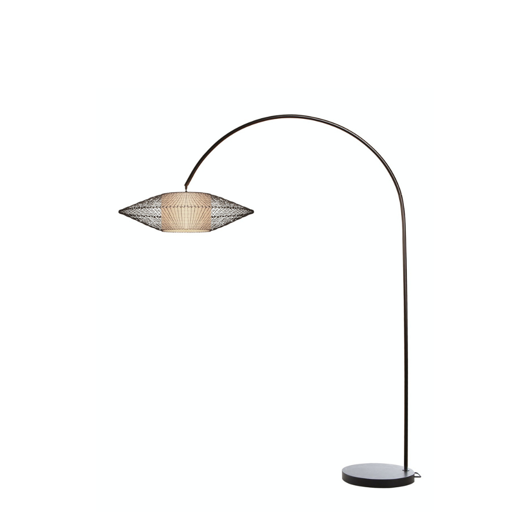 COBONPUE Floor Lamp Kai Arc S Brown