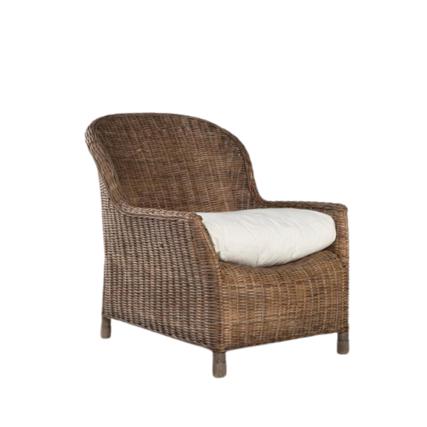 Rattan Gable lounge chair