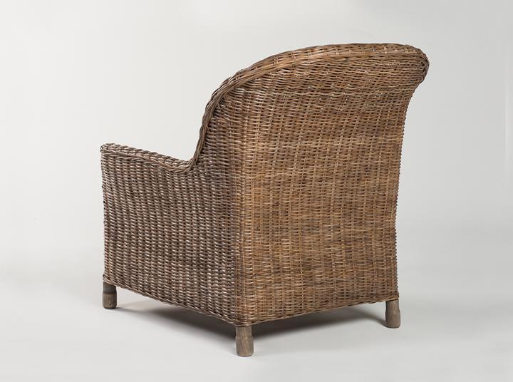 Rattan Gable lounge chair - Pepper