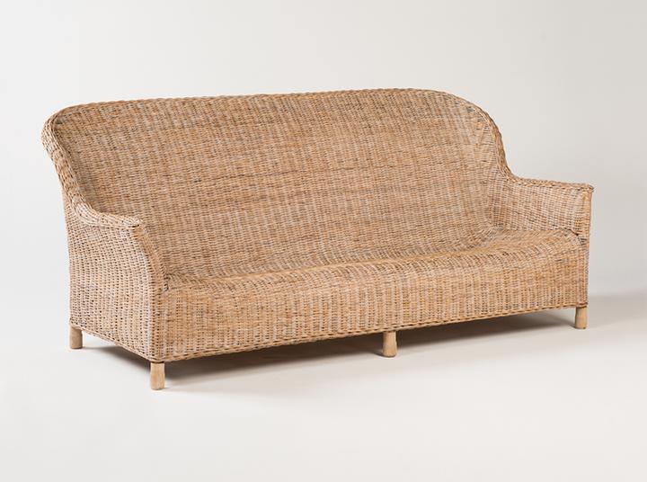 Rattan Gable sofa - Whitewash