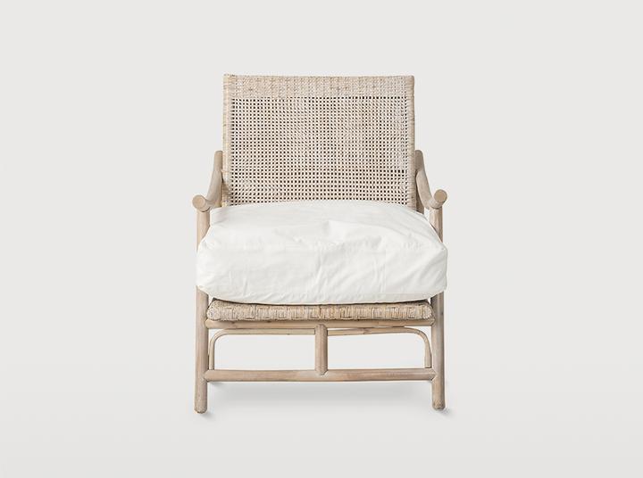 Rattan Slane lounge chair - Whitewash
