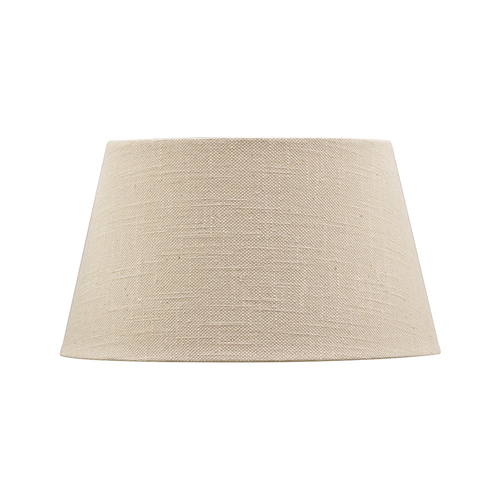 41CM BEIGE LINEN STYLE TAPERED DRUM LAMPSHADE
