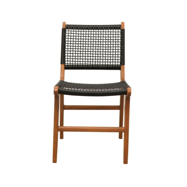 HAYES OUTDOOR DINING CHAIR - NAT:BLACK