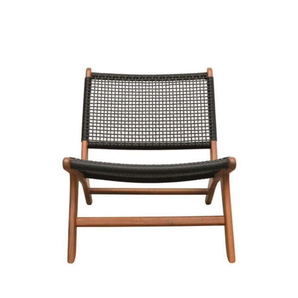 HAYES OUTDOOR LOW CHAIR - NAT:BLACK