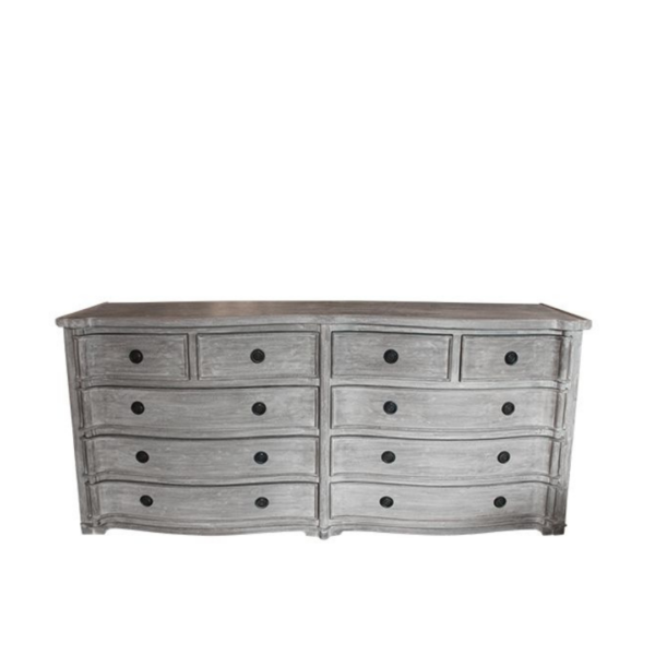 AMINE DOUBLE CHEST OF DRAWERS NATURAL
