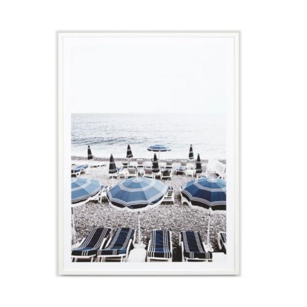 striped beach umbrellas