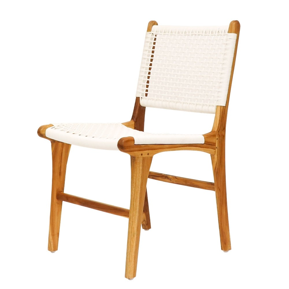 HAYES OUTDOOR DINING CHAIR - NAT/WHITE