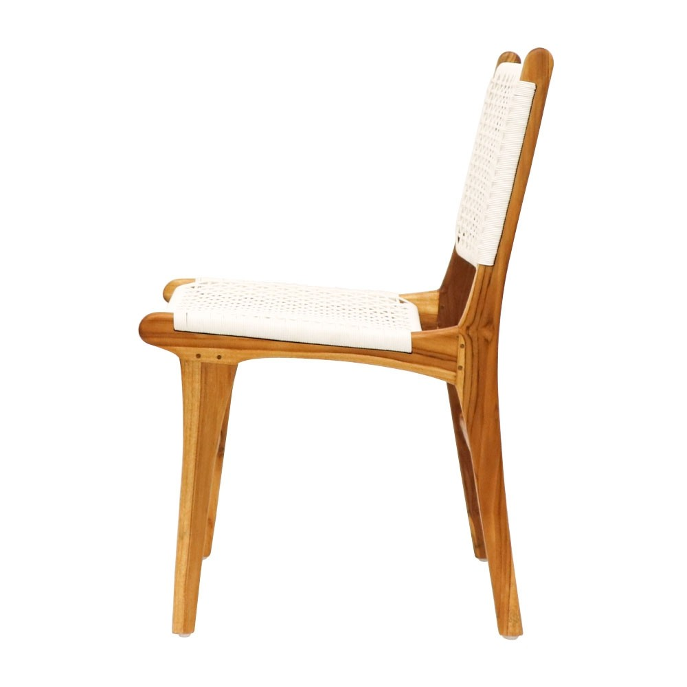 OUTDOOR DINING CHAIR - NAT/WHITE