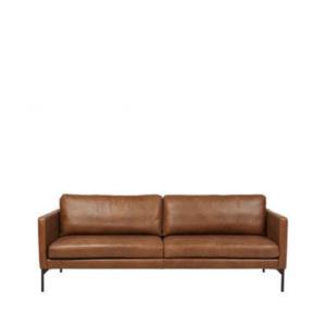 Leather sofa Tan