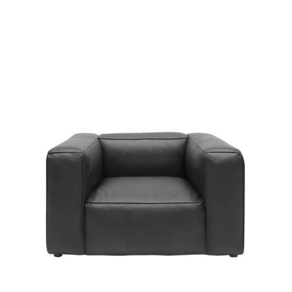 STIRLING LEATHER ARMCHAIR - ONYX