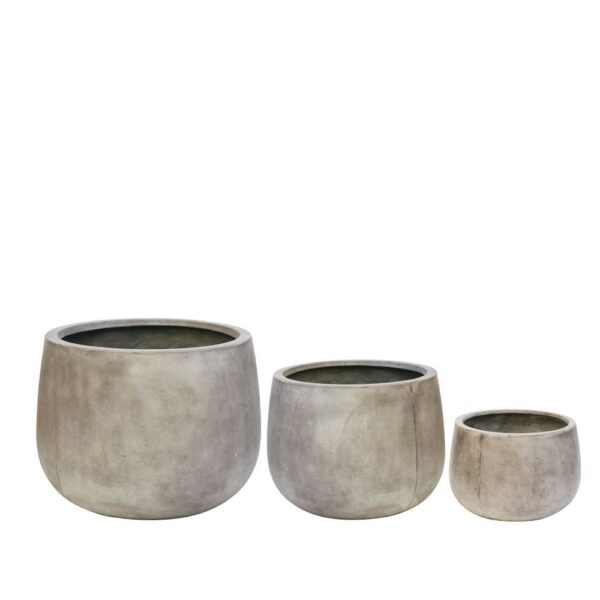 AHURIRI WEATHERED CEMENT PLANTER CLUSTER