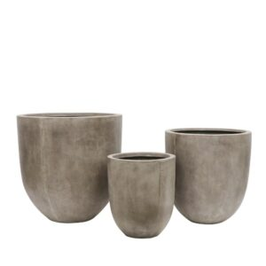 WEATHERED CEMENT POTS