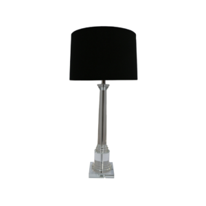 Tall Crystal Tower Table Lamp