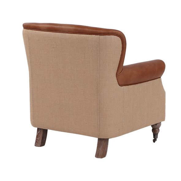 PIERRE LEATHER AND JUTE CHAIR
