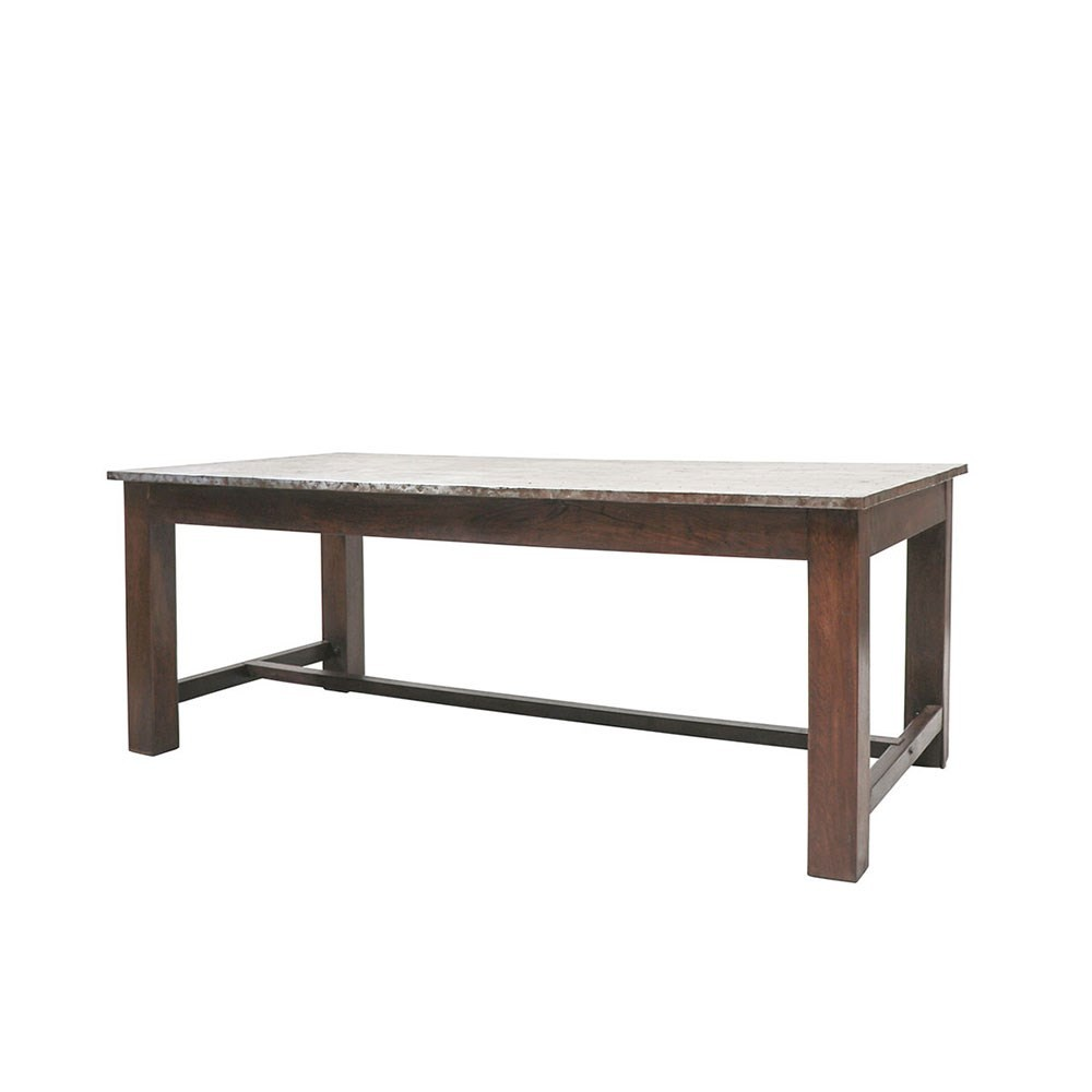 LIVERPOOL ZINC TOP DINING TABLE